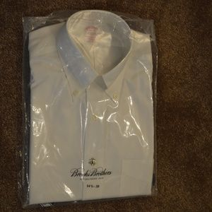 New Men's Size 14.5-33 White Button Down Shirt
